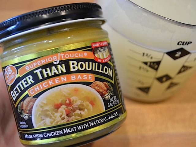 chicken bouillon in jar