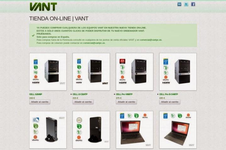 Vant abre tienda en línea, solo para España