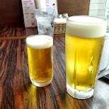 ice cold beers at Odaiba decks in Odaiba, Tokyo, Japan