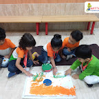 Independence Day Celebration by Nursery Section at Witty World Bangur Nagar (2018-2019)