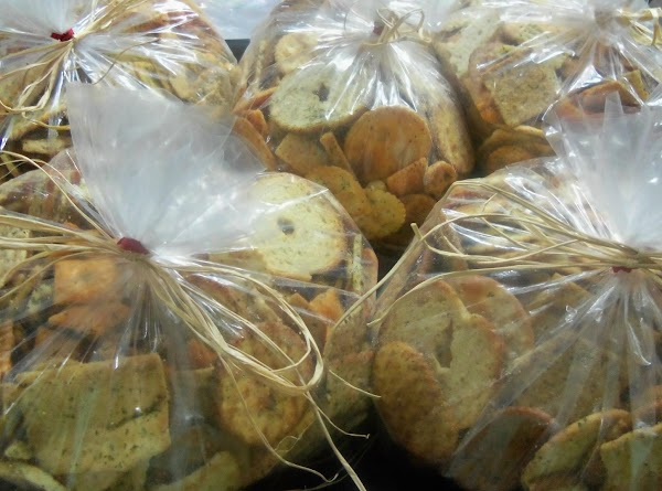 Place in plastic bread bags & tie with raffia for gift giving.