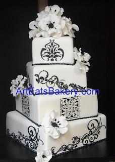 Black And White Wedding Cake 45 Beautiful Modern square off set