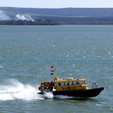 20 April 2012 - Firefighters return to Poole from Green Island onboard Vanguard (Photo credit: Kevin Mitchell, Maritime Images)