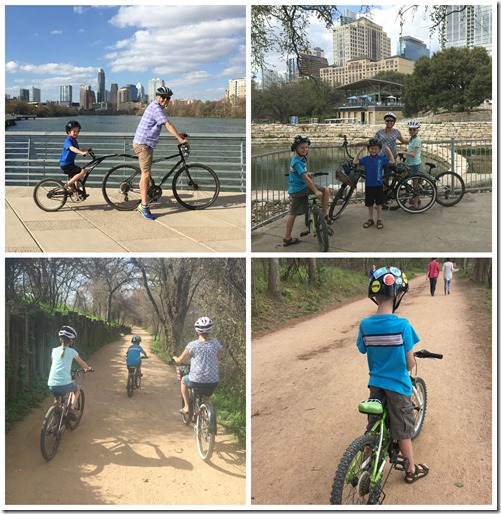 Biking around Lady Bird Lake