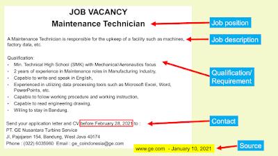 Materi Job Vacancy Bahasa Inggris SMK Lengkap