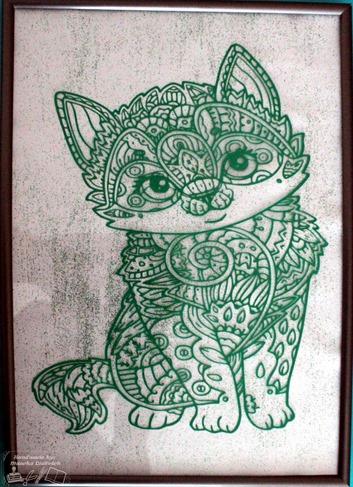 Schilderij kat 3