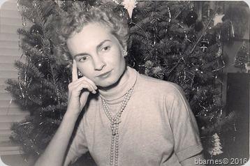 Mom Christmas 1950s