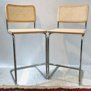 Breuer Chair Co. Cesca Stool Pair