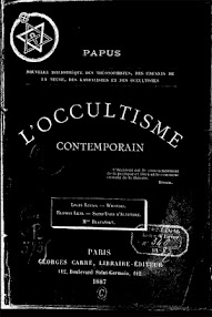 Cover of Papus's Book L'Occultisme Contemporain (1887,in French)