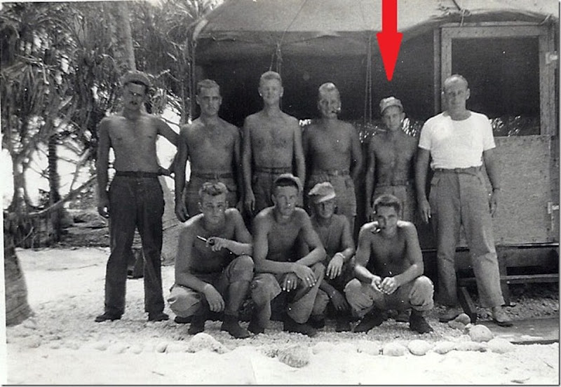 MILNE_Robert_WWII military unit_he is back row 2nd from right_cropped_annot
