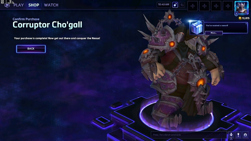 Unlocking Corruptor Cho'gall in Heroes of the Storm