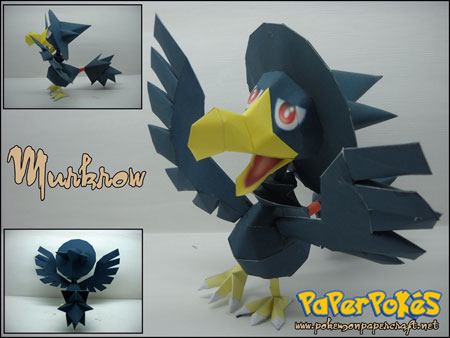 Pokemon Murkrow Papercraft