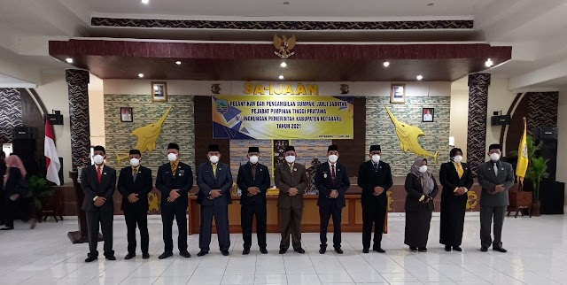 [Advertorial] Bupati Kotabaru Lantik 9 Pejabat Pimpinan SKPD