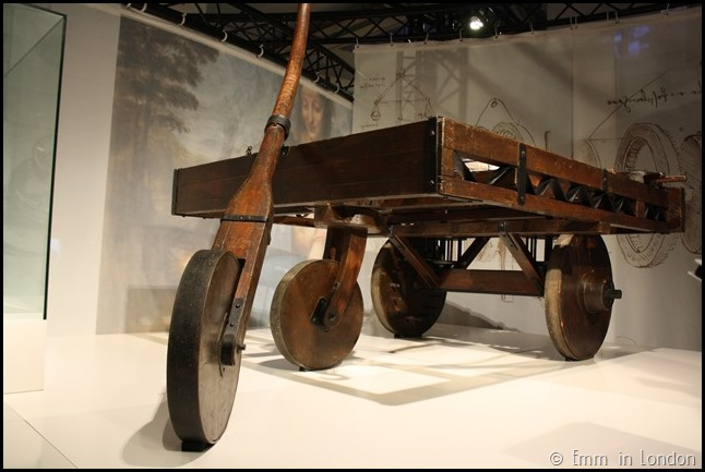 Model of Leonardo da Vinci Self-Propelled Vehicle