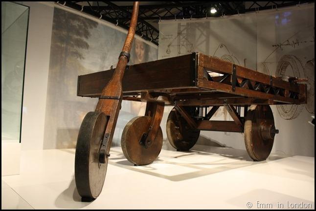 Model of Leonardo da Vinci Self-Propelled Vehicle