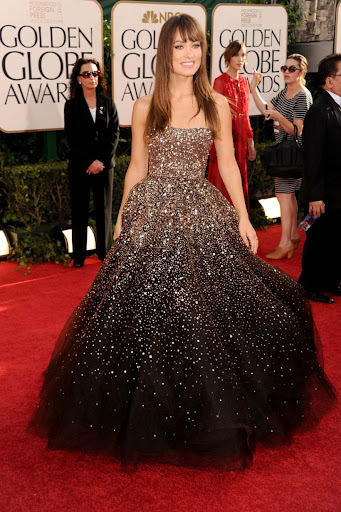 Olivia Wilde Golden Globes Red Carpet Celebrity Dresses