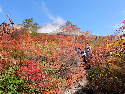 紅葉輝く那須岳(白笹山から南月山、牛ヶ首、姥ヶ平)