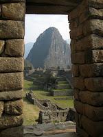 View of Wayna Picchu through the gate