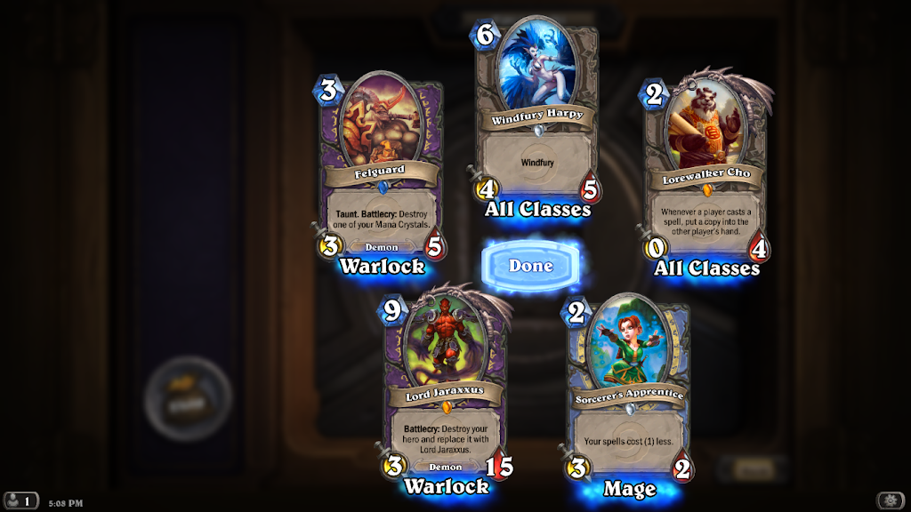 Opening two legendary cards (Lord Jaraxxus and Lorewalker Cho) in one pack