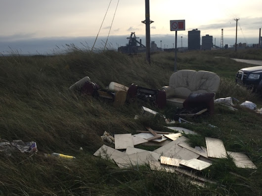 South Gare Fly Tipping and FRED Litter Pick