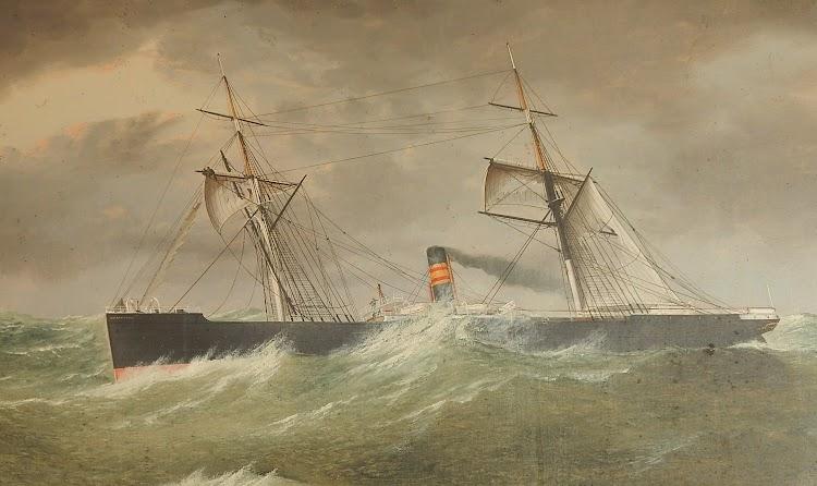 Vapor Buenaventura en el Temporal de 15 al 16 Enero 1878 Lat 50N. Long.25 Oeste. Foto remitida por Gerard. Nuestro agradecimiento.JPG