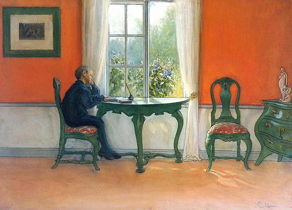 Carl Larsson - Required Reading, 1900