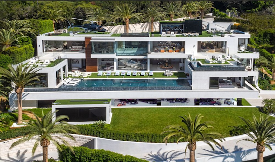 "924 Bel Air Road sold for $94 million in October. House includes a nonfunctioning helicopter from the TV series ""Airwolf."" Photographer: Berlyn Photography"