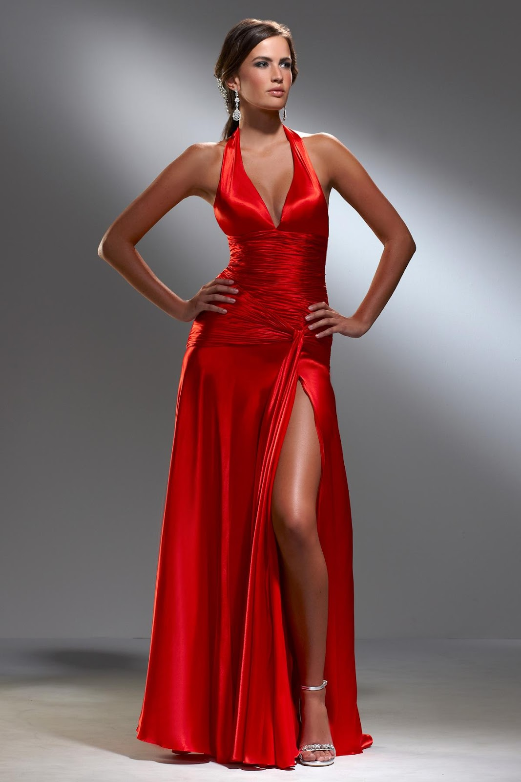 Estels blog Red Halter Evening Dresses