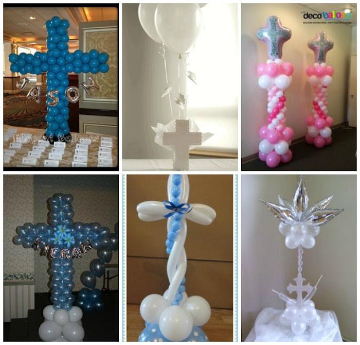 decoracion primera comunion en globos
