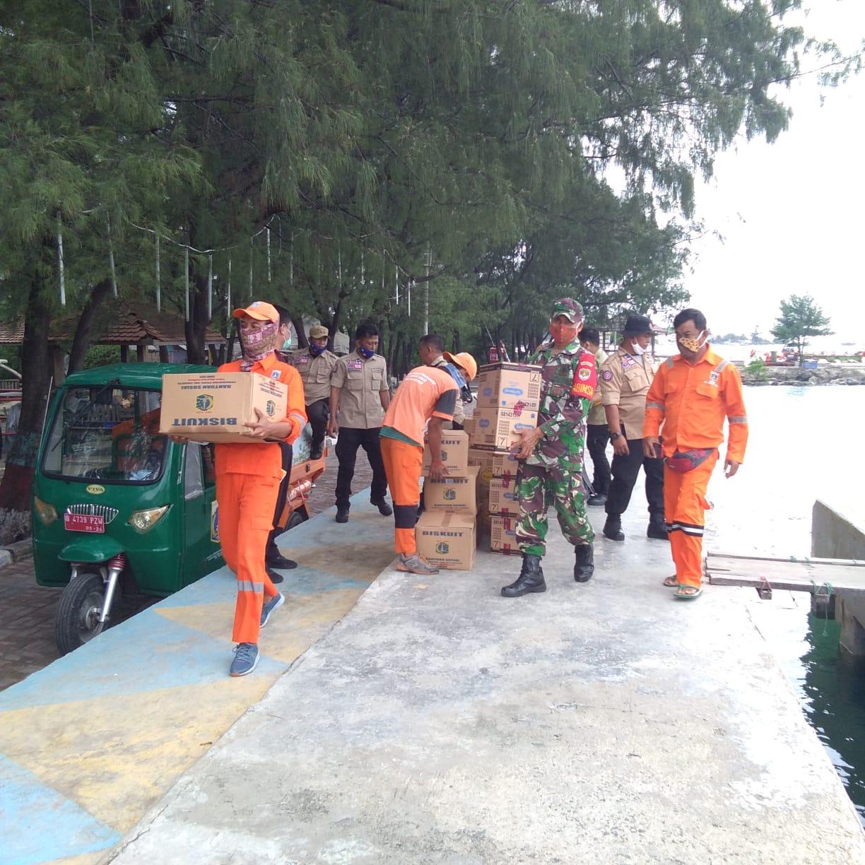 Koramil 04/KS, Kawal Pendistribusian Logistik Penanganan Bencana Sriwijaya Air SJ-182 di Pulau Lancang