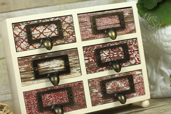 Decopage jewlery box makeover