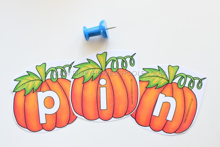 PUMPKIN THEMED MOVEABLE ALPHABET