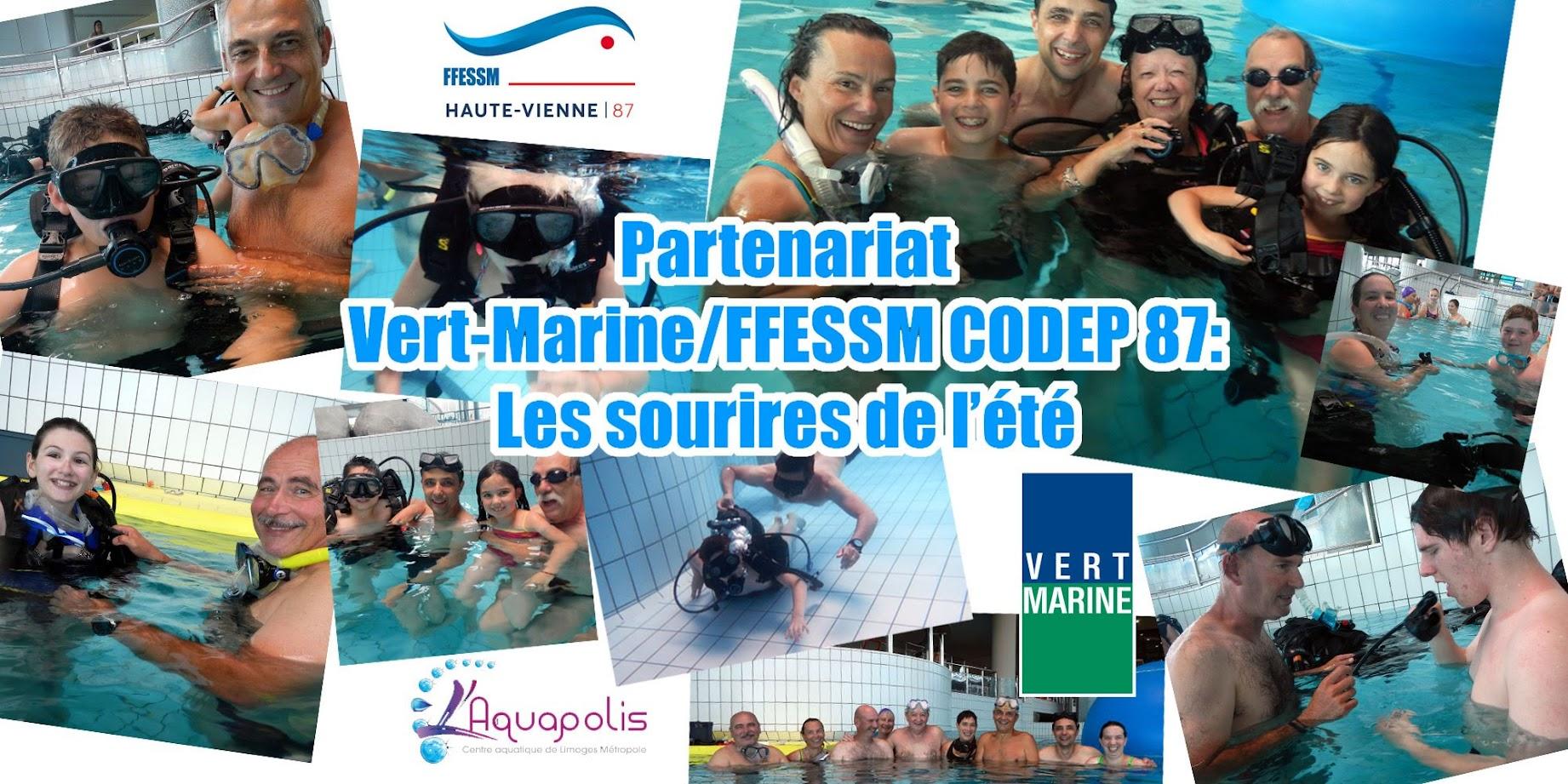 FFESSM COSEP 87 Vert Marine l'aquapolis Limoges Metropole