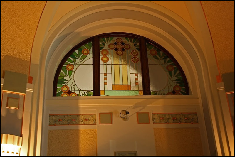 Art Nouveau Stained Glass in Municipal House Prague