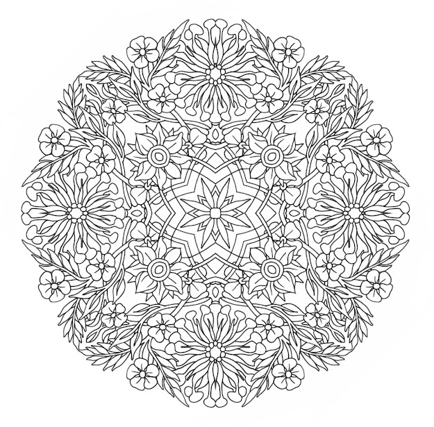 Free Advanced Mandala Coloring Pages