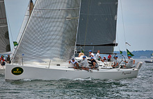 J/122s sailing off Newport, RI