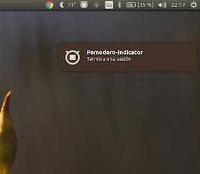 técnica Pomodoro en Ubuntu - notificación