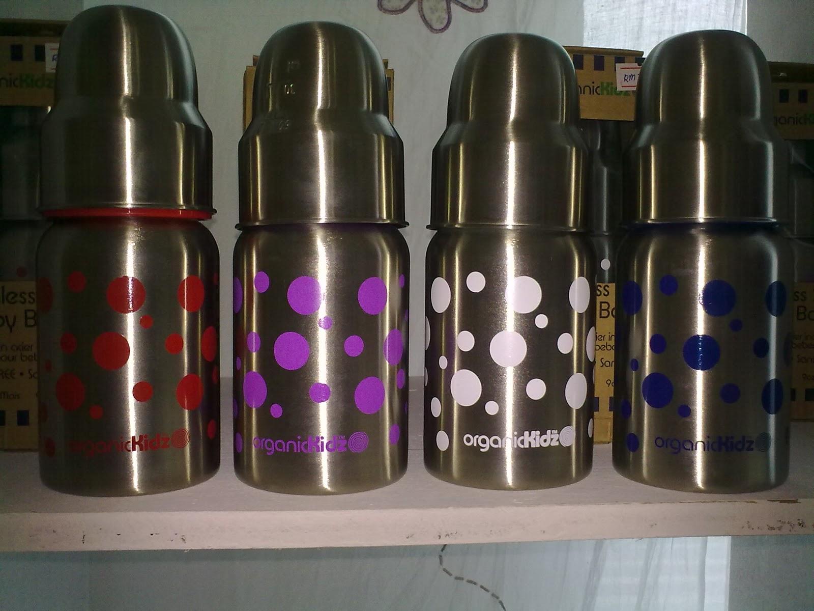 Ziraffe Amp Co Organickidz Stainless Steel Feeding Bottles