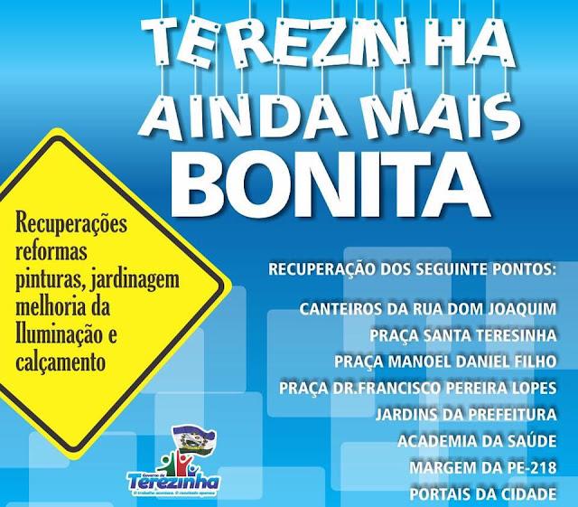 OS AVANÇOS DO MUNICÍPIO DE TEREZINHA