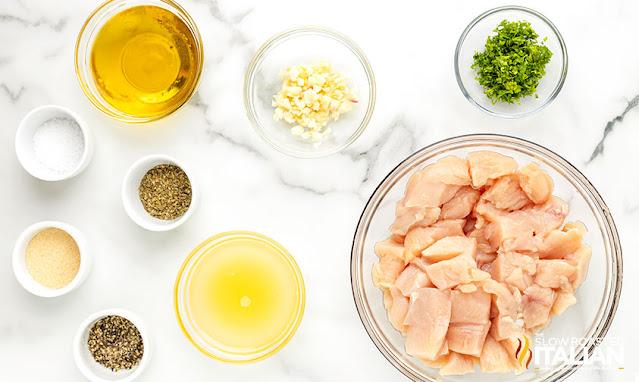lemon chicken bites ingredients
