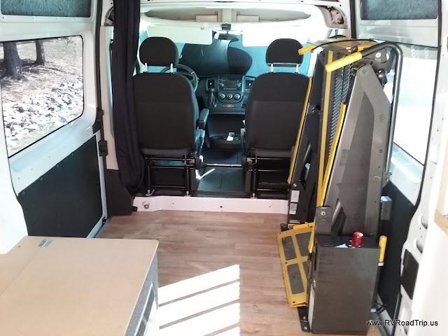 Ram Promaster Rv Camper Van Conversion Wheelchair Lift