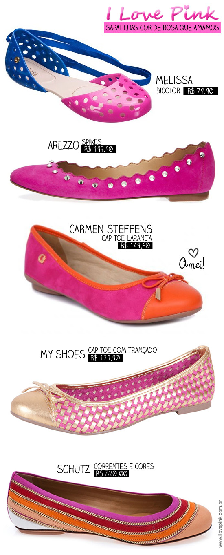 Sapatilhas cor de rosa