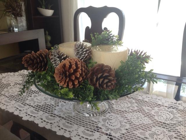 Ideashot c mo hacer un centro de mesa navide o con una for Como hacer un centro de mesa navideno