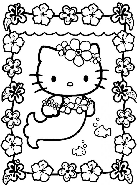Mermaid Coloring Pages Mermaid Coloring Pages Mermaid Color Page  Umiddot Free Coloring Pages Of Mermaid Umiddot Pics To Print Print Hello  Kitty
