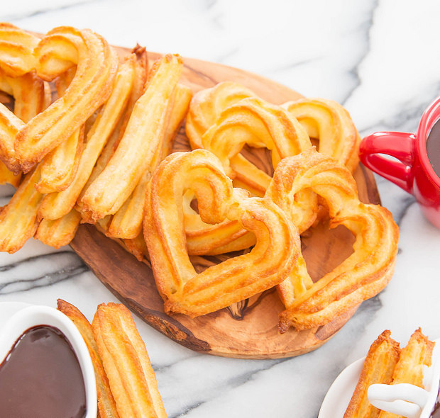 Baked Churros With Chocolate Kirbie S Cravings