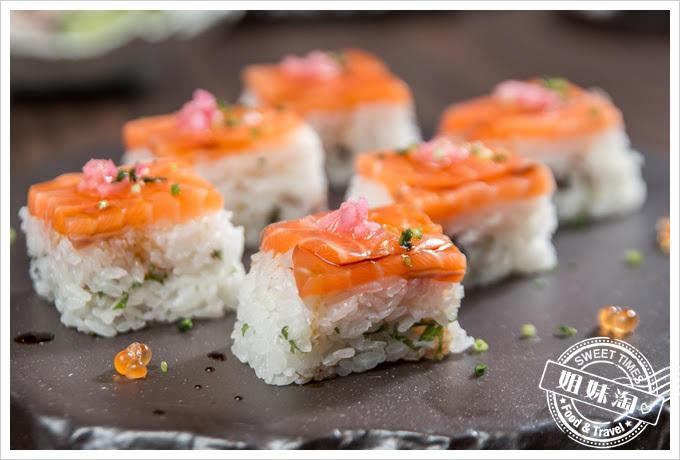 墨吉日本料理鮭魚箱壽司