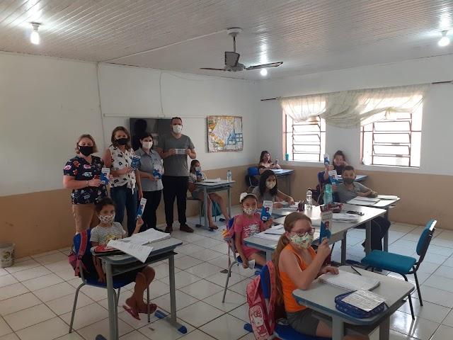 Educação fiscal e nota fiscal foi tema nas escolas em Cristal do Sul