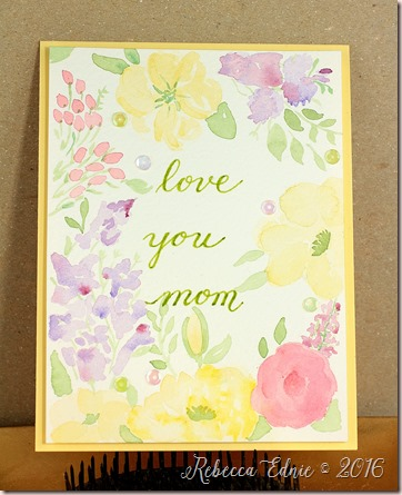 watercolour mom card