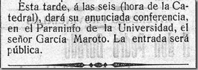 hora de la catedral paraninfo adelanto 17 nov 1913