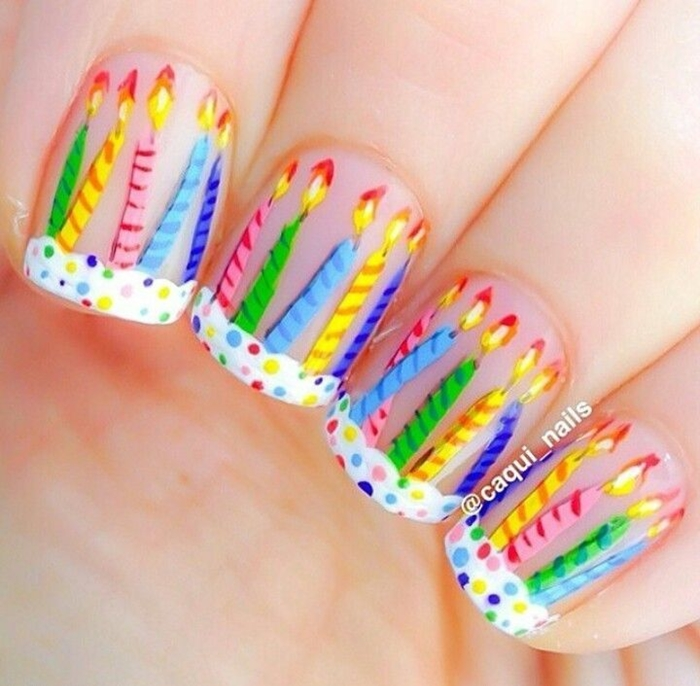 Stylish Nail Art Ideas For Happy Birthday ( A second part
